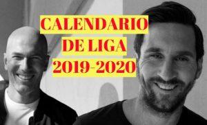 Calendario de la Liga Española 2019-2020