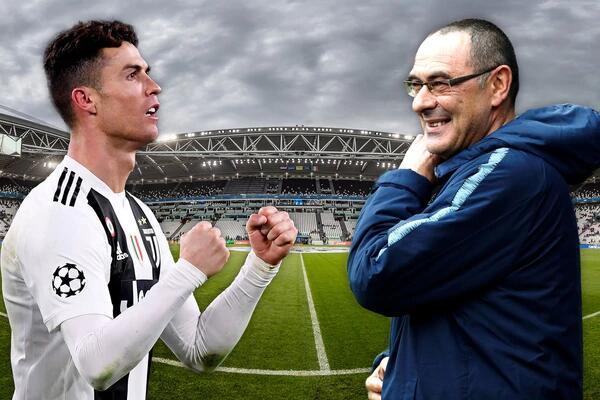 Cristiano Ronaldo y Maurizio Sarri