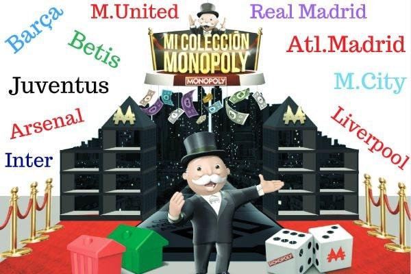 Monopoly equipos de futbol