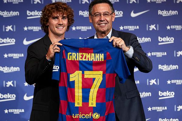 Presentación fichaje de Griezmann por el Barça