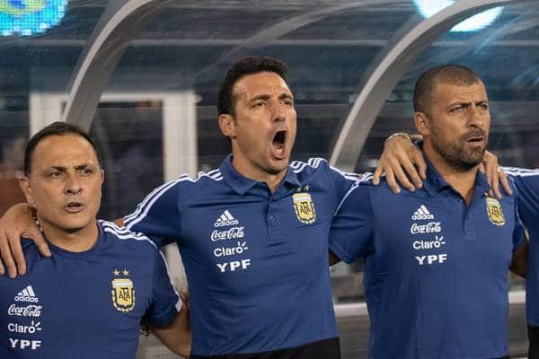 Scaloni con Argentina