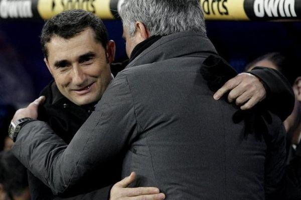 Ernesto Valverde y José Mourinho