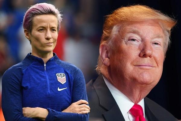 Megan Rapinoe y Donald Trump