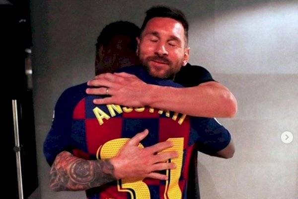 Messi bendice a Ansu Fati