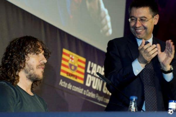 Bartomeu y Carles Puyol