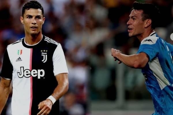 Cristiano Ronaldo felicitó al Chucky Lozano