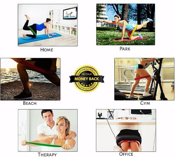 Bandas de Resistencia CrossFit, Insanity, Zumba, Yoga, Pilates