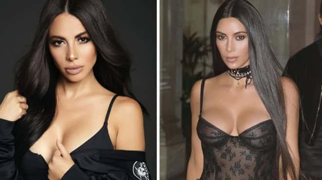 Jimena Sánchez y Kim Kardashian