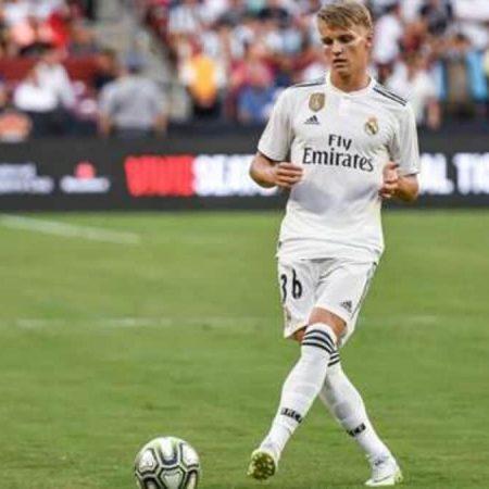 Odegaard en el Real Madrid